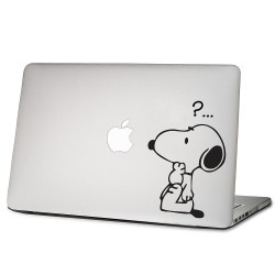 Snoopy Question Mark Laptop / Macbook Vinyl Decal Sticker