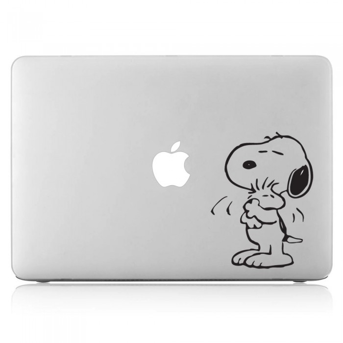 Snoopy Hugging Laptop / Macbook Vinyl Decal Sticker (DM-0028)
