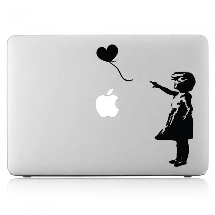 Banksy Balloon Girl  Laptop / Macbook Vinyl Decal Sticker (DM-0051)
