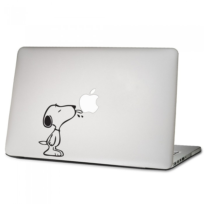 snoopy licks apple laptop macbook vinyl decal sticker