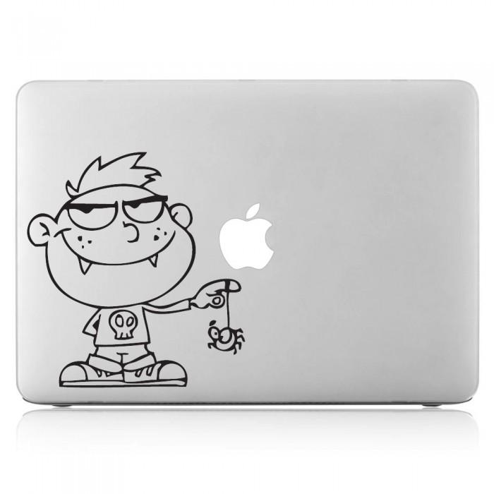 Evil Little Boy with spider Laptop / Macbook Vinyl Decal Sticker (DM-0059)
