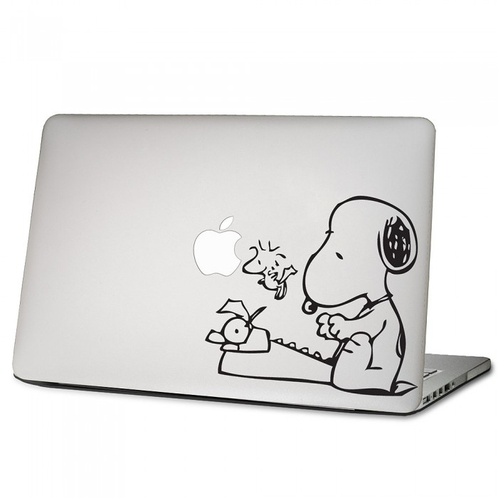 Snoopy Typewriter Laptop Macbook Vinyl Decal Sticker