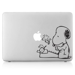 Snoopy Typewriter Laptop / Macbook Vinyl Decal Sticker