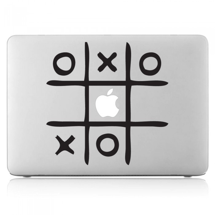 Tic Tac Toe Laptop / Macbook Vinyl Decal Sticker (DM-0073)