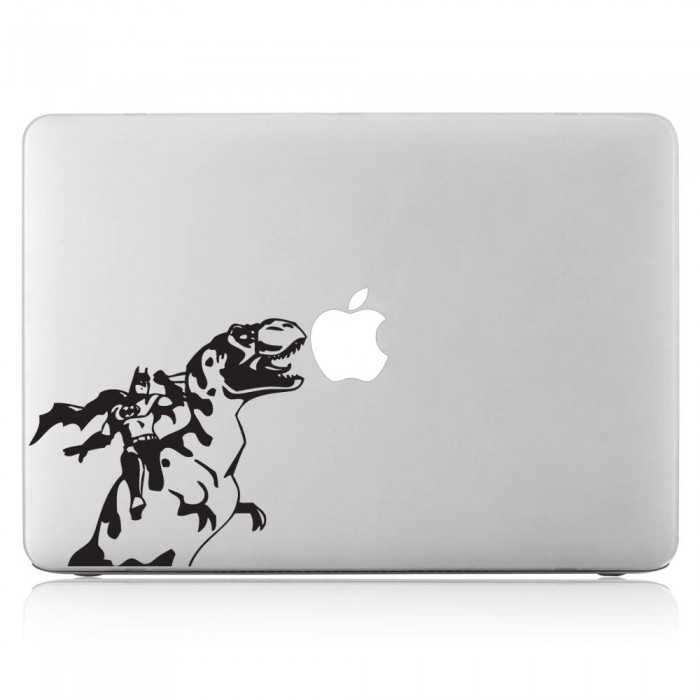 Batman and dinosaur laptop macbook vinyl decal sticker dm 0112