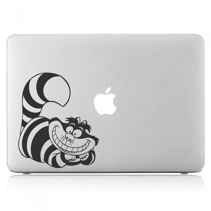 Cheshire Cat in Alice Wonderland Laptop / Macbook Vinyl Decal Sticker (DM-0132)