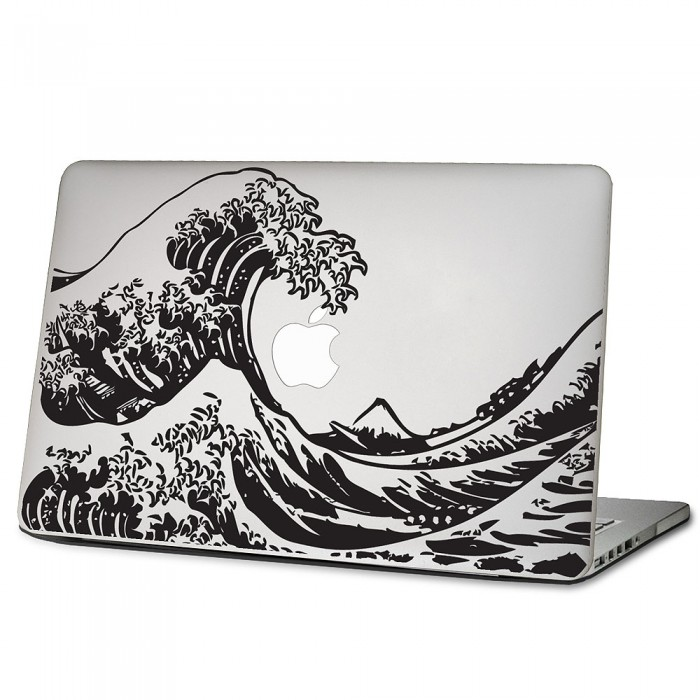 The great wave off kanagawa hokusai laptop macbook vinyl decal sticker
