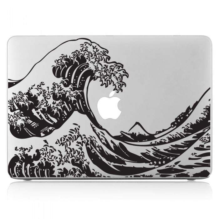 The Great Wave off Kanagawa Hokusai Laptop / Macbook Vinyl Decal Sticker (DM-0136)
