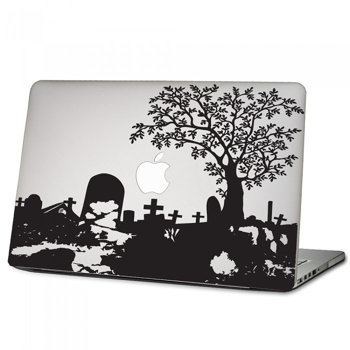 der friedhof laptop macbook sticker aufkleber. Black Bedroom Furniture Sets. Home Design Ideas