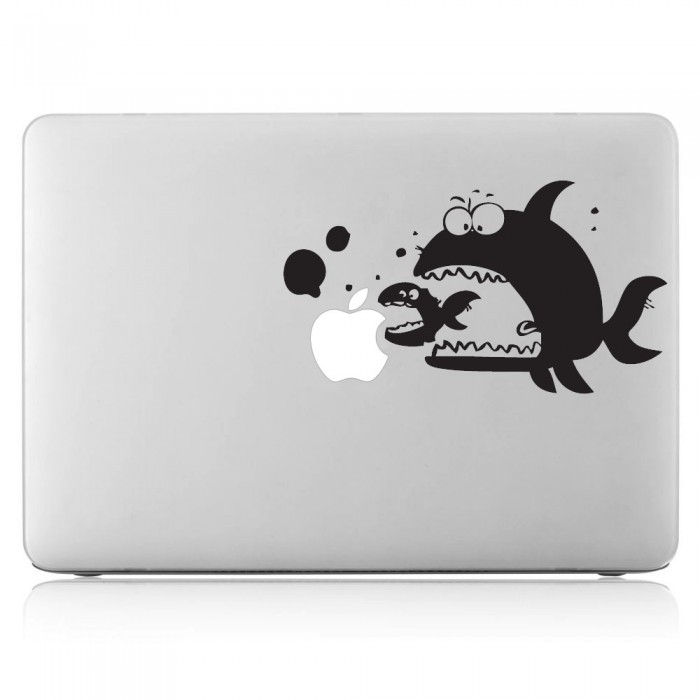 Big Fish Eat Little Fish  Laptop / Macbook Vinyl Decal Sticker (DM-0151)