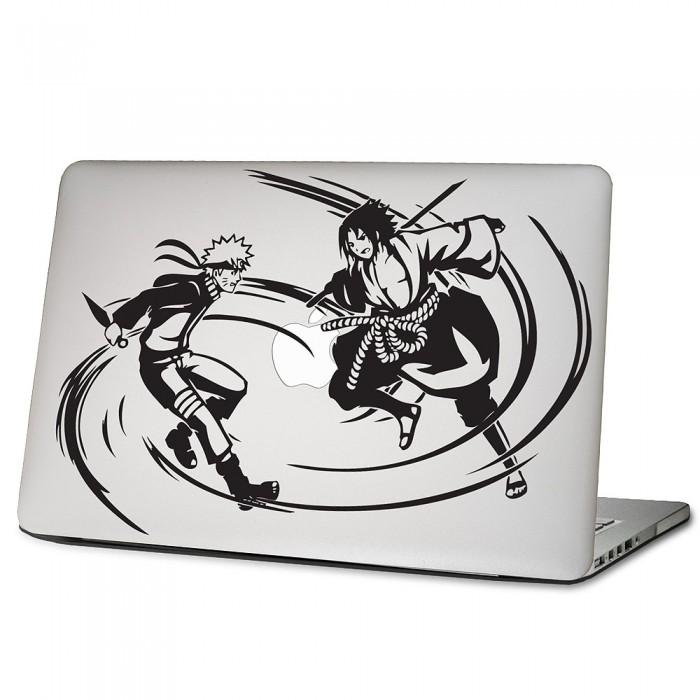 Naruto vs sasuke laptop macbook vinyl decal sticker