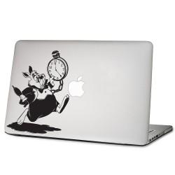 The White Rabbit Alice Wonderland Laptop / Macbook Vinyl Decal Sticker