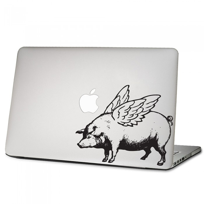 flying pig laptop macbook sticker aufkleber. Black Bedroom Furniture Sets. Home Design Ideas