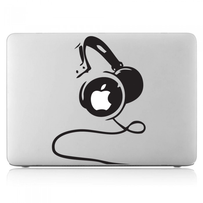 Headphones Laptop / Macbook Vinyl Decal Sticker (DM-0191)