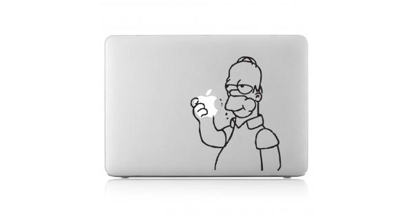 save off 99b38 60fec Homer Simpson eating apple Laptop / Macbook Vinyl Decal Sticker (DM-0193)