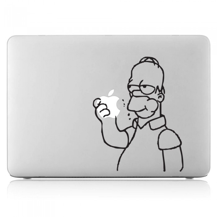 Homer Simpson eating apple Laptop / Macbook Vinyl Decal Sticker (DM-0193)