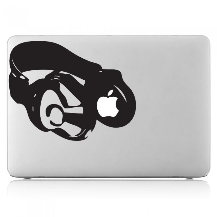 Apple Headphones  Laptop / Macbook Vinyl Decal Sticker (DM-0199)