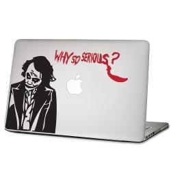 Joker why so serious? Laptop / Macbook Vinyl Decal Sticker