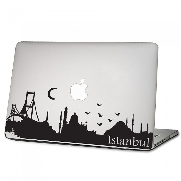 istanbul skyline laptop macbook sticker aufkleber. Black Bedroom Furniture Sets. Home Design Ideas