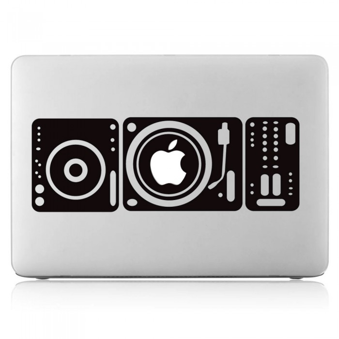 DJ Turntable Laptop / Macbook Vinyl Decal Sticker (DM-0213)