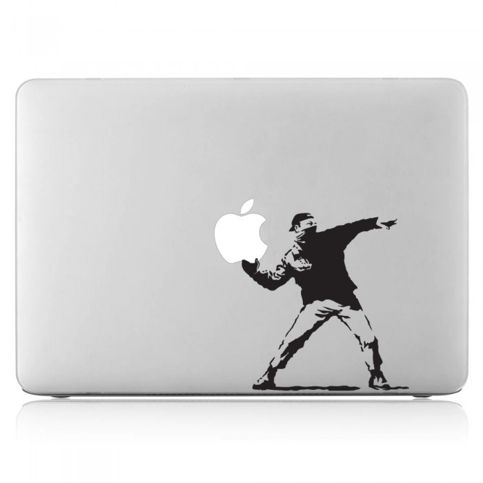 Banksy Thrower Man Laptop / Macbook Vinyl Decal Sticker (DM-0222)