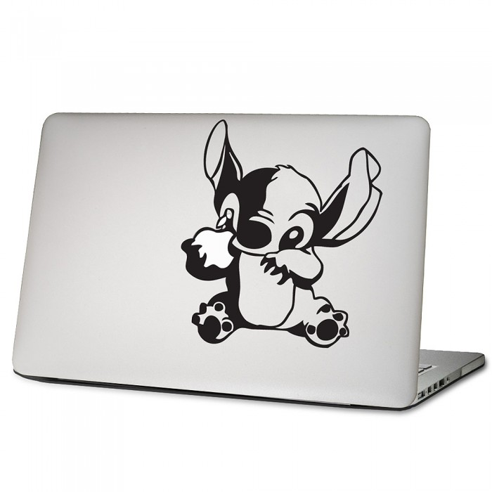 lilo stitch laptop macbook sticker aufkleber. Black Bedroom Furniture Sets. Home Design Ideas