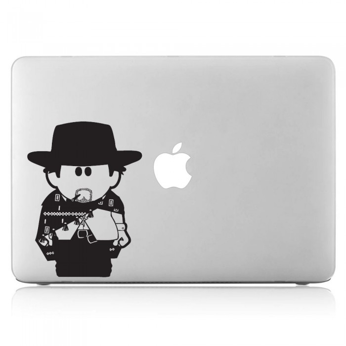 A Fistful of Dollar Cowboy Clint Eastwood Laptop / Macbook Vinyl Decal Sticker (DM-0242)