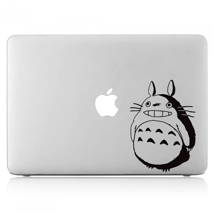 totoro smile laptop macbook sticker aufkleber. Black Bedroom Furniture Sets. Home Design Ideas