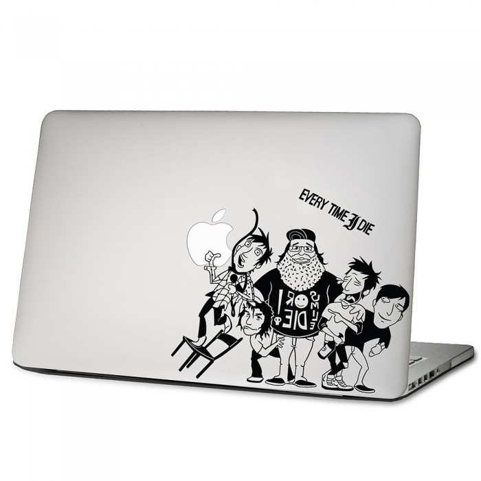 every time i die laptop macbook sticker aufkleber. Black Bedroom Furniture Sets. Home Design Ideas