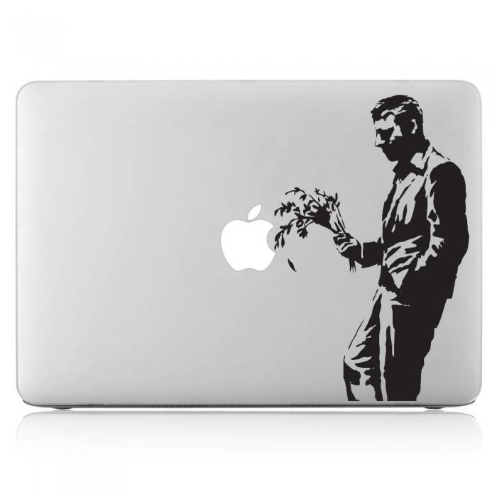 Banksy Waiting in vain Laptop / Macbook Vinyl Decal Sticker (DM-0281)