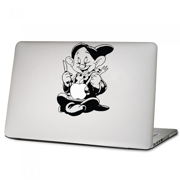 Dopey Zwerge Isst Apfel Laptop Macbook Sticker Aufkleber Dm 0284