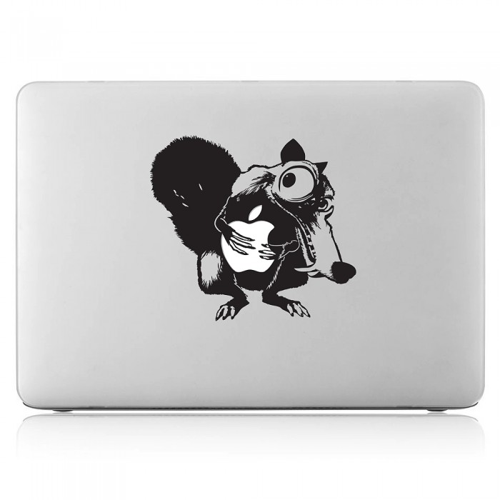 Ice Age Squirrel Scrat hug Apple Laptop / Macbook Vinyl Decal Sticker (DM-0286)