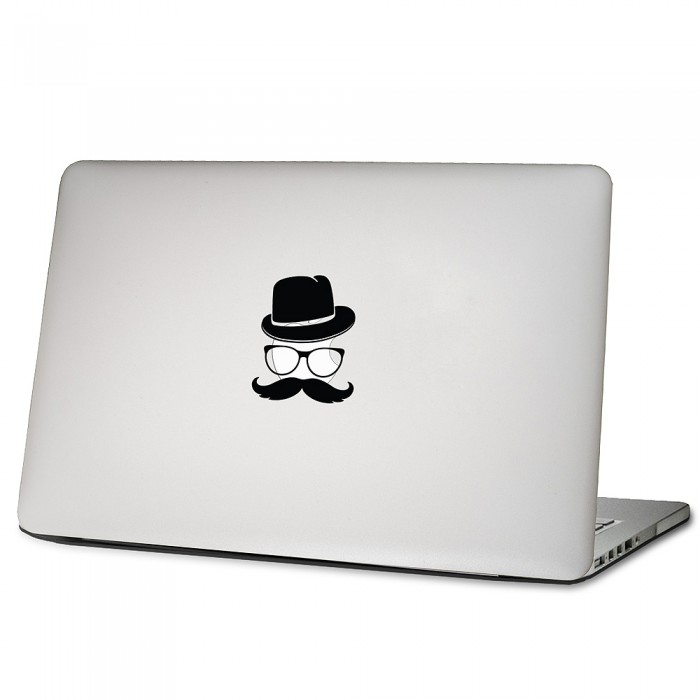 Mustache Laptop Macbook Sticker Aufkleber (DM 0288)
