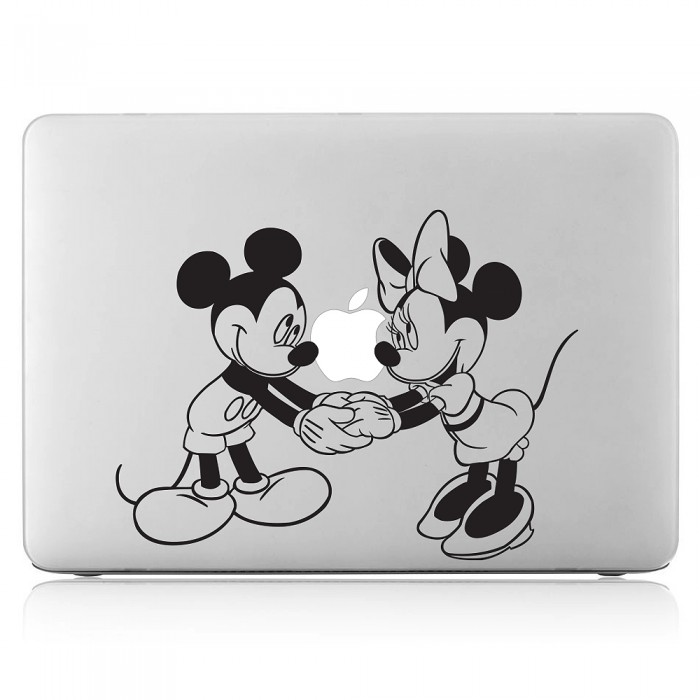 Disney Character Mickey Minnie Laptop / Macbook Vinyl Decal Sticker (DM-0296)