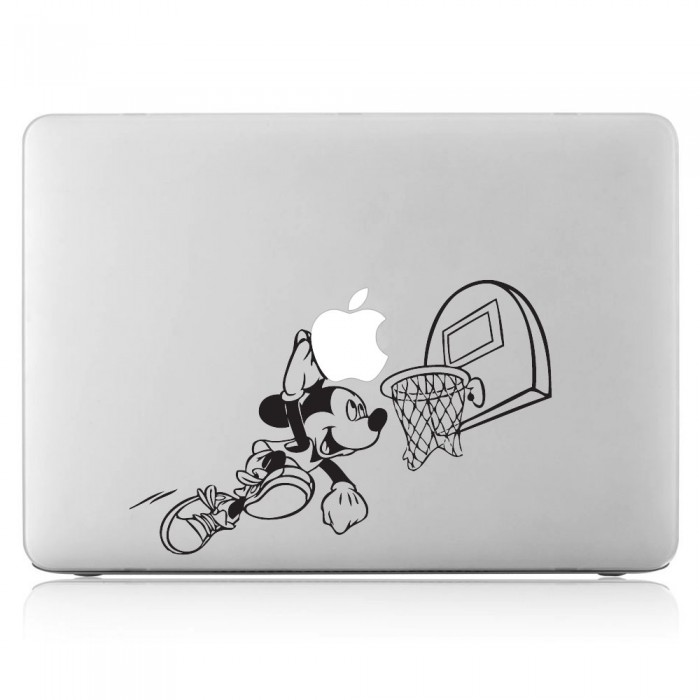 Mickey Mouse Basketball Laptop / Macbook Vinyl Decal Sticker (DM-0318)