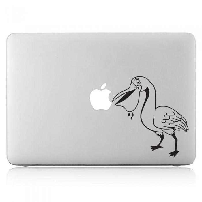 Bird Eating Apple Laptop / Macbook Vinyl Decal Sticker (DM-0322)