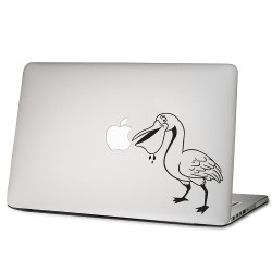 Bird Eating Apple Laptop / Macbook Vinyl Decal Sticker
