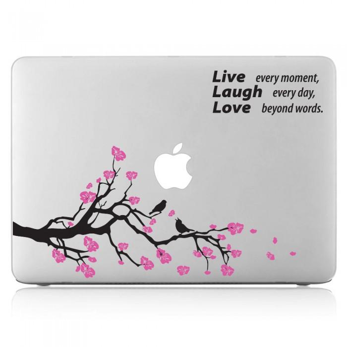 Cherry Blossom Tree Laptop / Macbook Vinyl Decal Sticker (DM-0328)