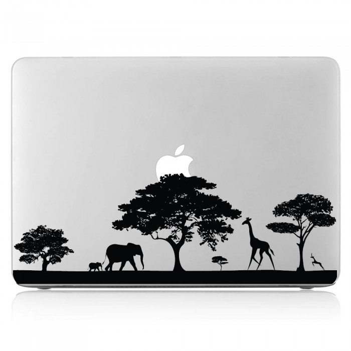 Safari Africa Wildlife Laptop / Macbook Vinyl Decal Sticker (DM-0337)