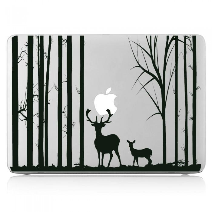 Deers in Forest Laptop / Macbook Vinyl Decal Sticker (DM-0338)