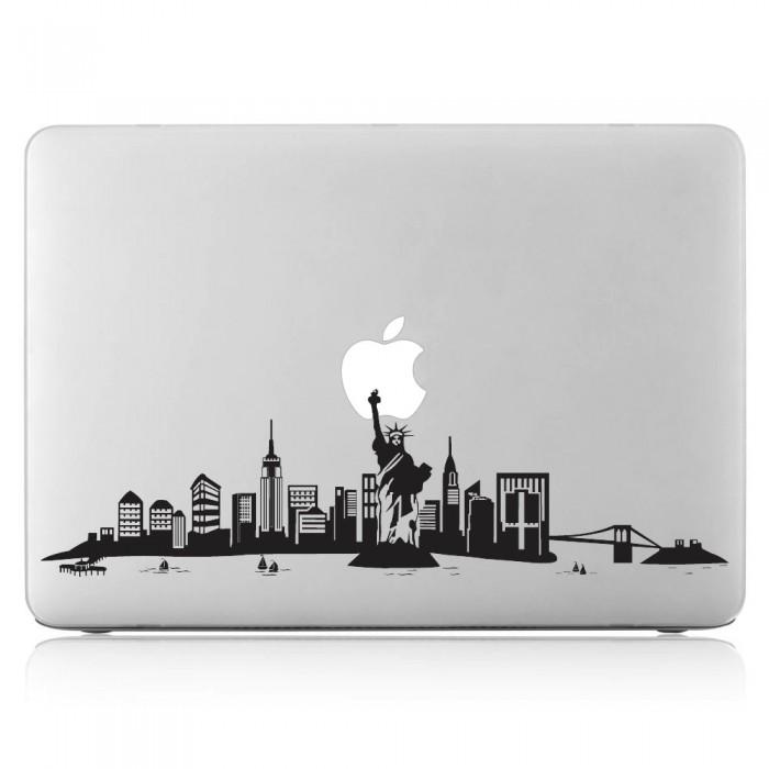 New York Skyline City Laptop Macbook Sticker Aufkleber Dm 0356