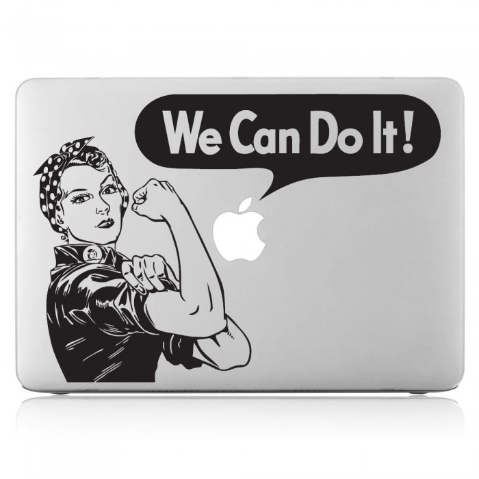 We Can Do It Laptop / Macbook Vinyl Decal Sticker (DM-0365)