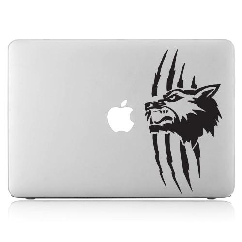 Wolf Tattoo Laptop / Macbook Vinyl Decal Sticker