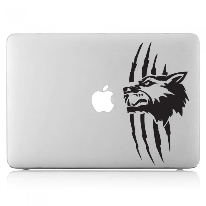 Wolf Tattoo Laptop / Macbook Vinyl Decal Sticker (DM-0377)