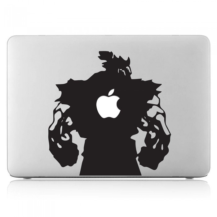 Akuma street fighter laptop macbook vinyl decal sticker