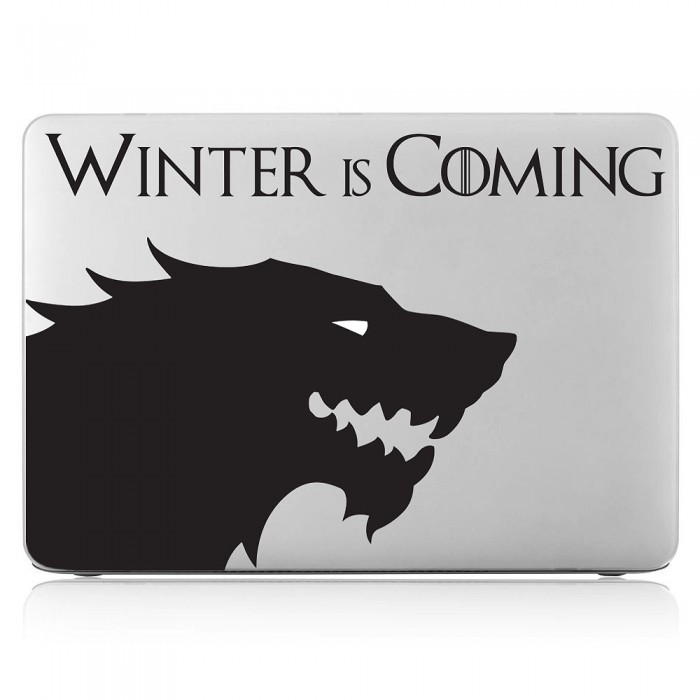 Stark House Sigil Winter is Coming Laptop / Macbook Vinyl Decal Sticker (DM-0393)