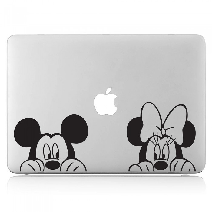 Mickey and Minnie Mouse Laptop / Macbook Vinyl Decal Sticker (DM-0400)