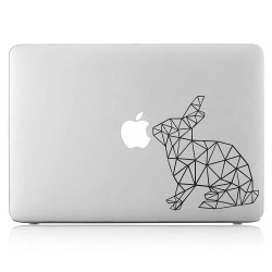 Geometric Rabbit Laptop / Macbook Vinyl Decal Sticker