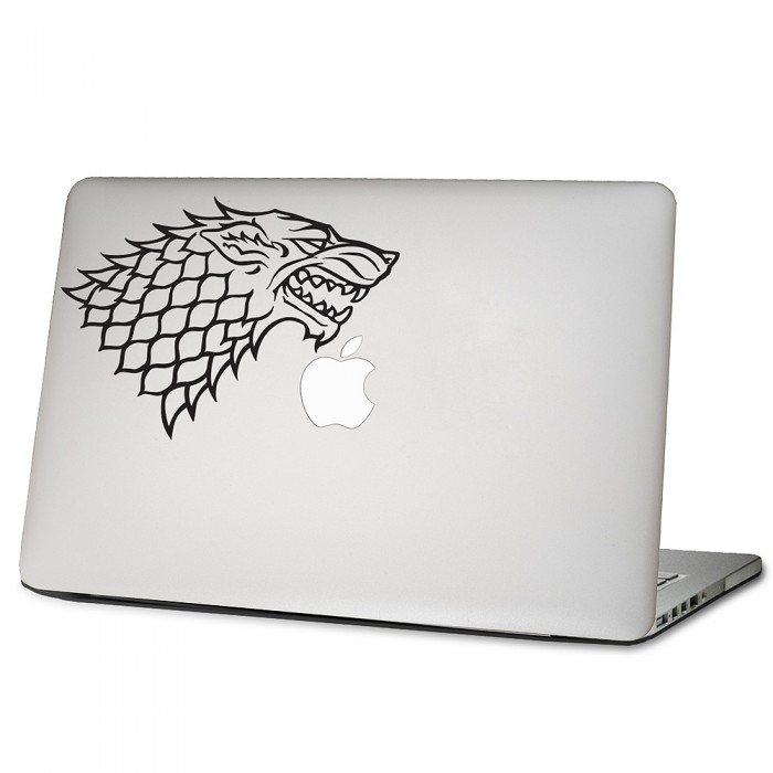 house stark sigil laptop macbook sticker aufkleber. Black Bedroom Furniture Sets. Home Design Ideas