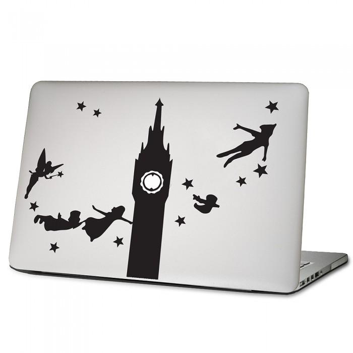 Peter pan flying Laptop / Macbook Vinyl Decal Sticker